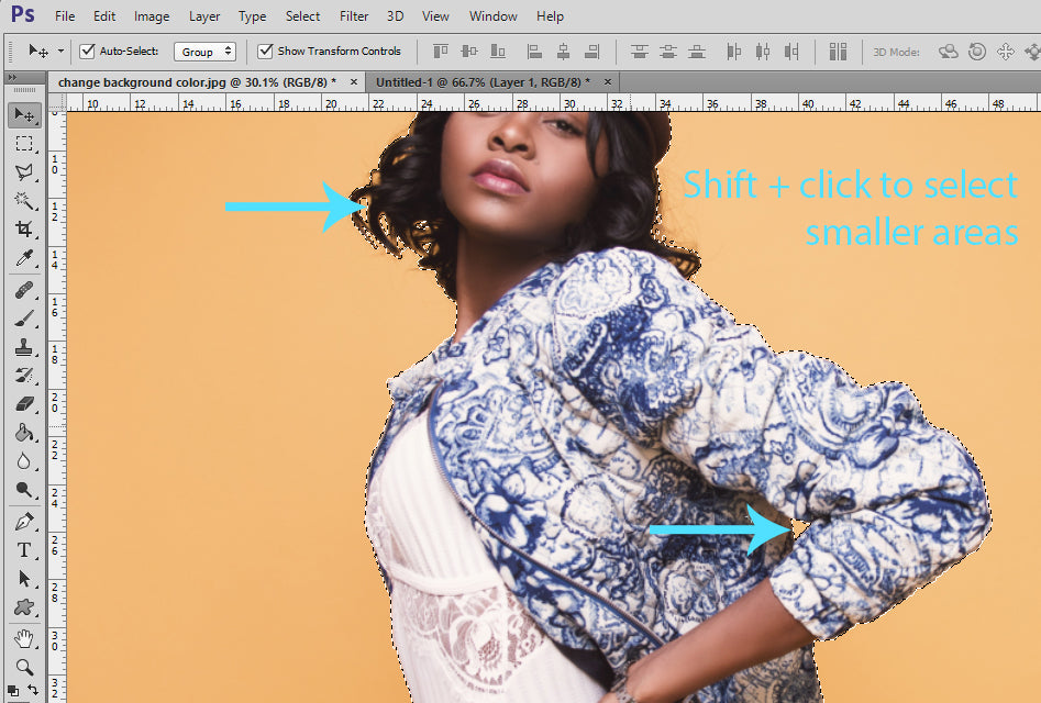 how to change background in photoshop