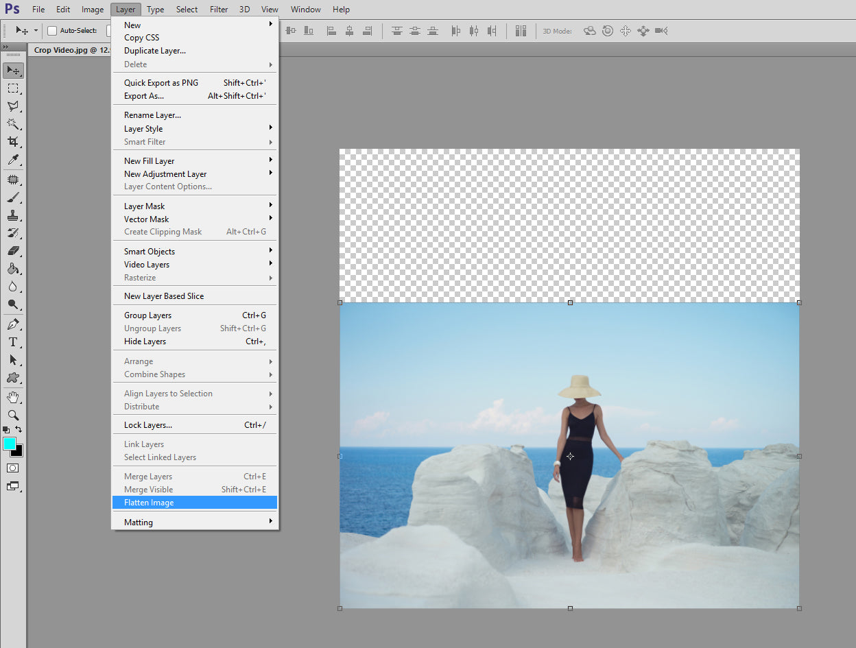Using the Photoshop Crop Tool to Expand Your Frame