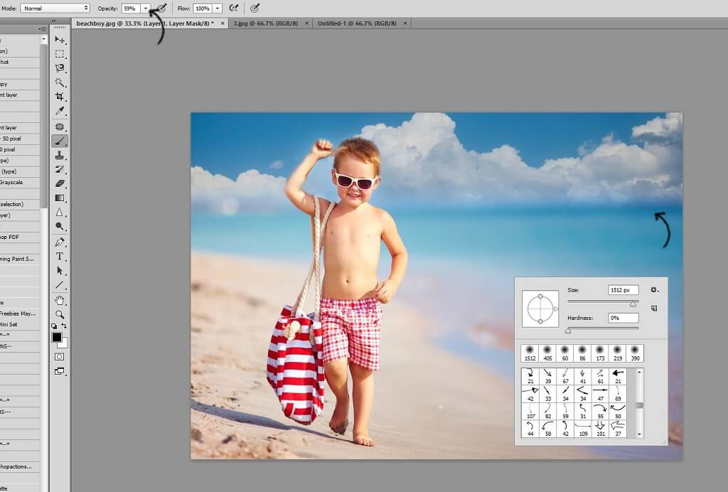 how to add sky overlay in photoshop elements