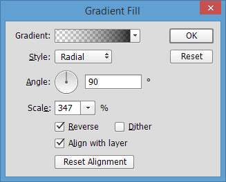 Vignette in Photoshop - How to Adjust Gradient Fill for Vignette
