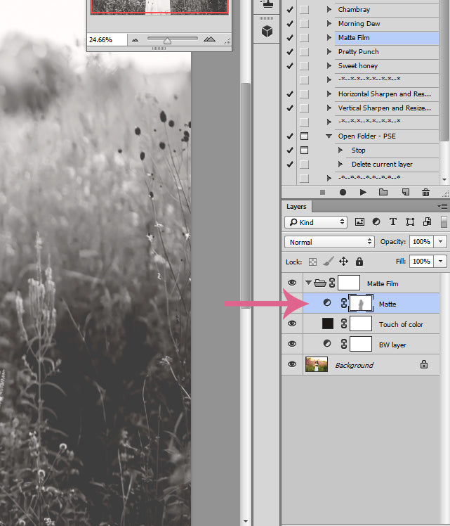 Customizing Matte Effects in Photoshop