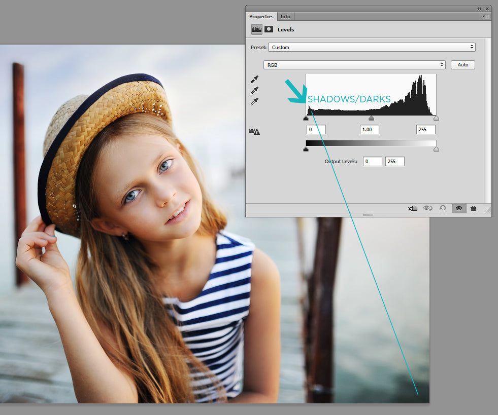 using histogram in photoshop