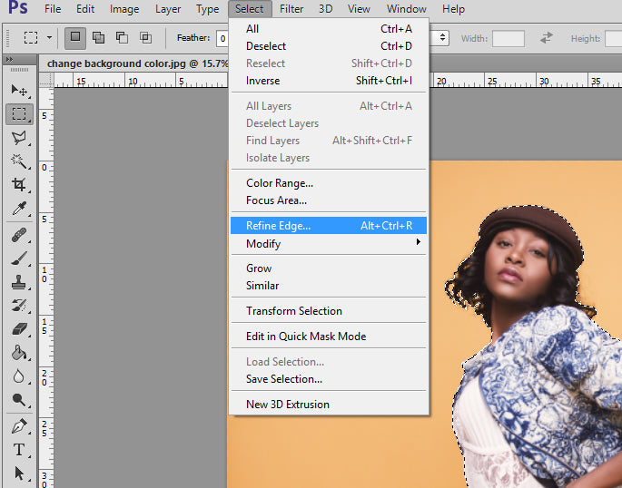 how to add background color in photoshop