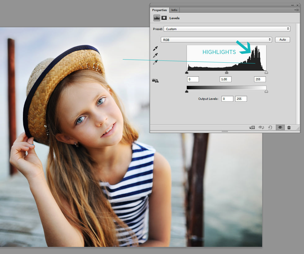 photoshop histogram explained
