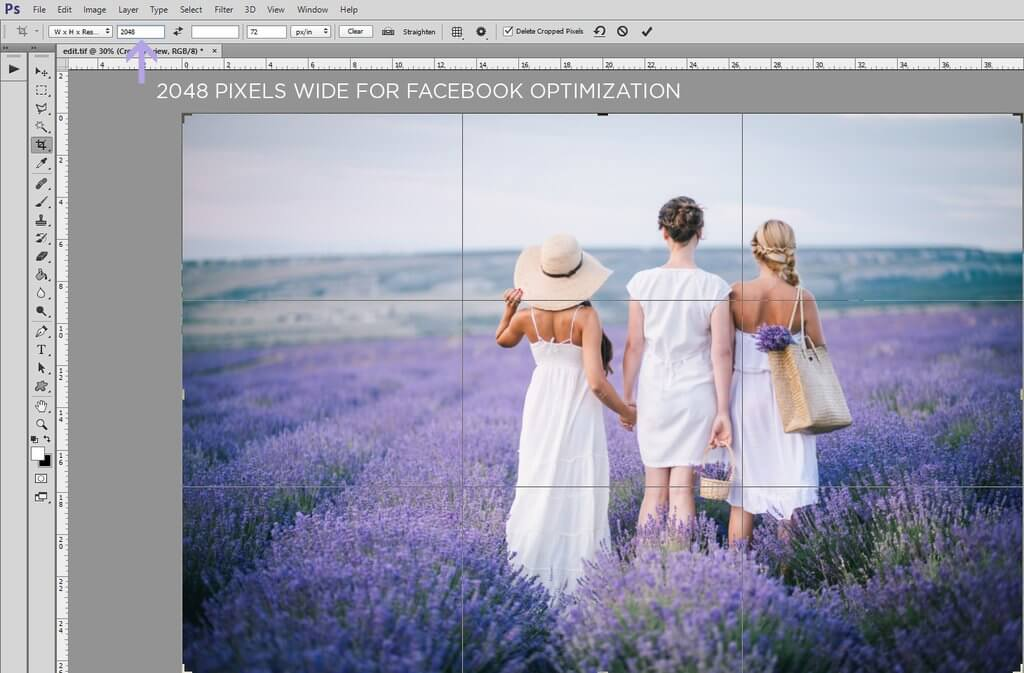 How to Crop in Photoshop to a Specific Size