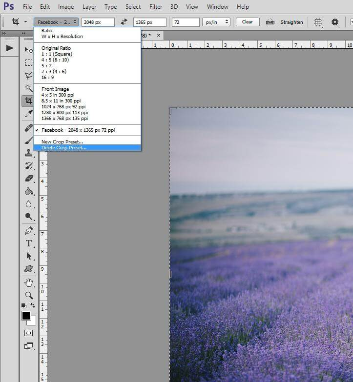 How to Crop Image in Photoshop