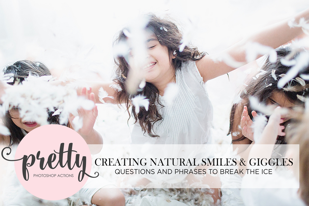 Getting Your Photography Clients to Giggle Naturally: Questions and Phrases to Break the Ice