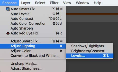 Photoshop Adjust Lighting Levels