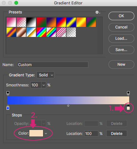 Color Gradient Map Photoshop