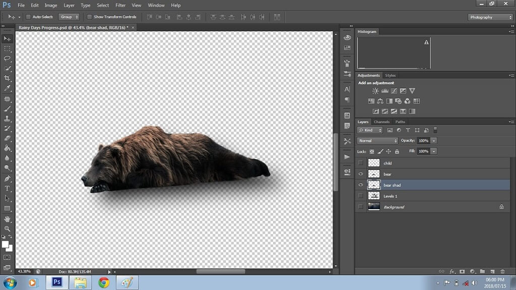 Creating a Shadow in Photoshop