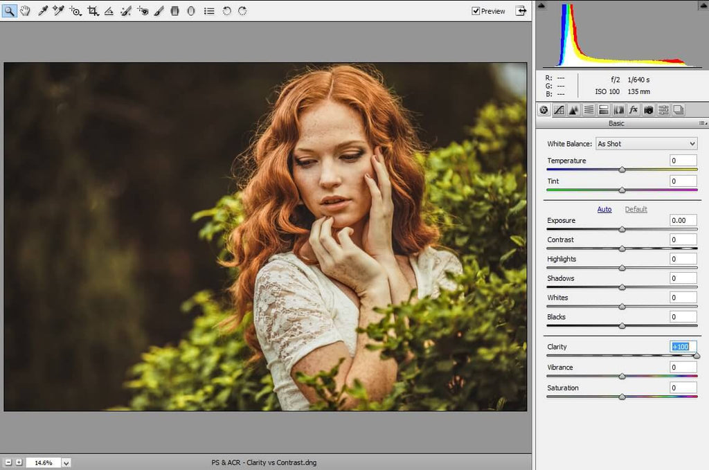 how to adjust clarity in photoshop