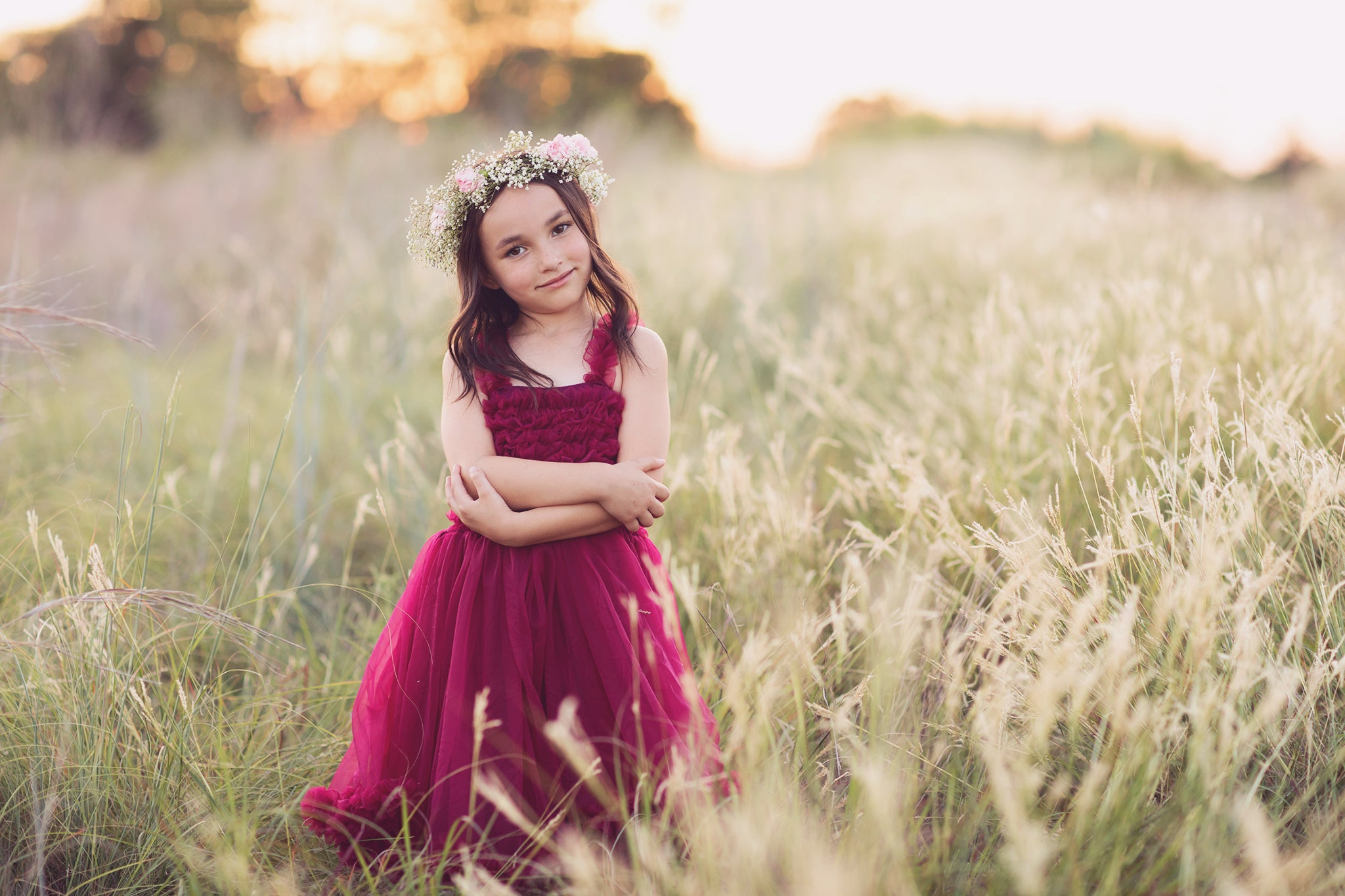Pastel Dreams Favorite Photoshop Action Combo added to photo of a young girl in a field