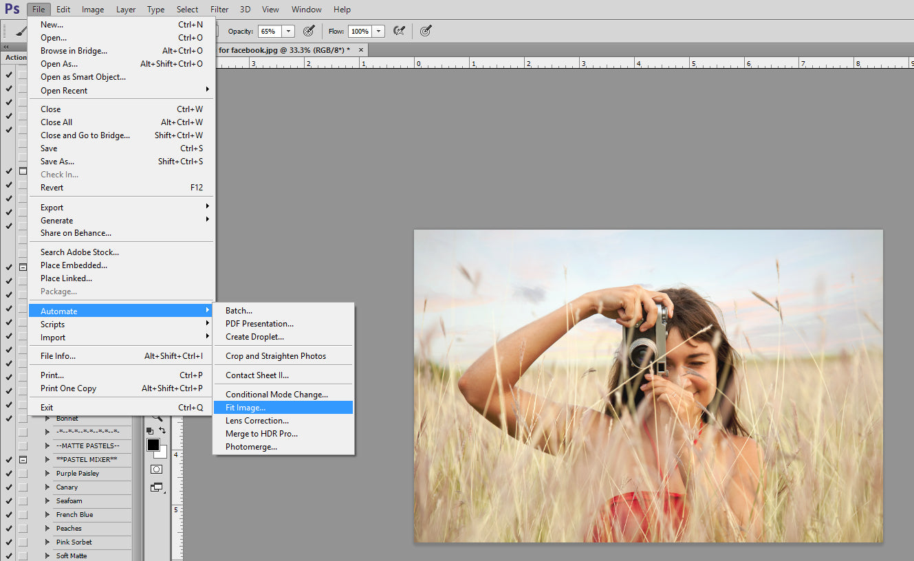 Resizing Images in Photoshop