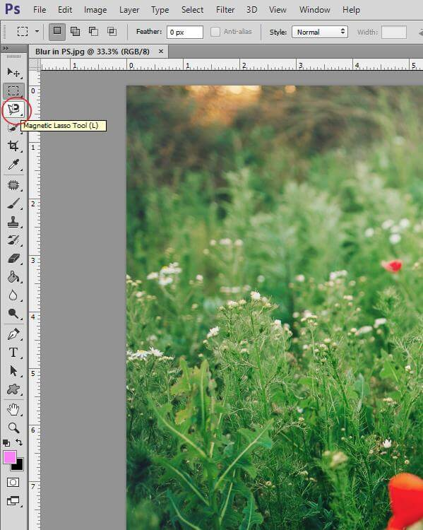 Lens Blur Photoshop Tutorial Image