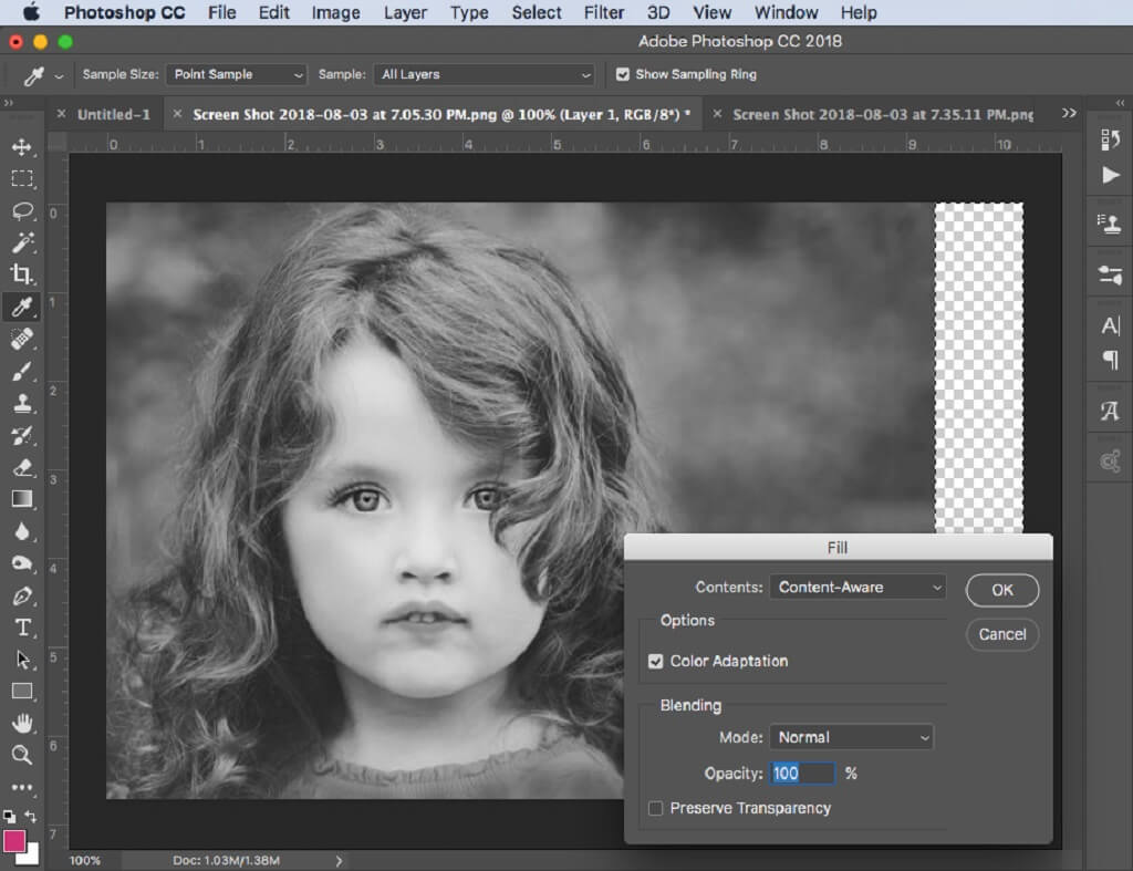 How to Extend Background in Photoshop