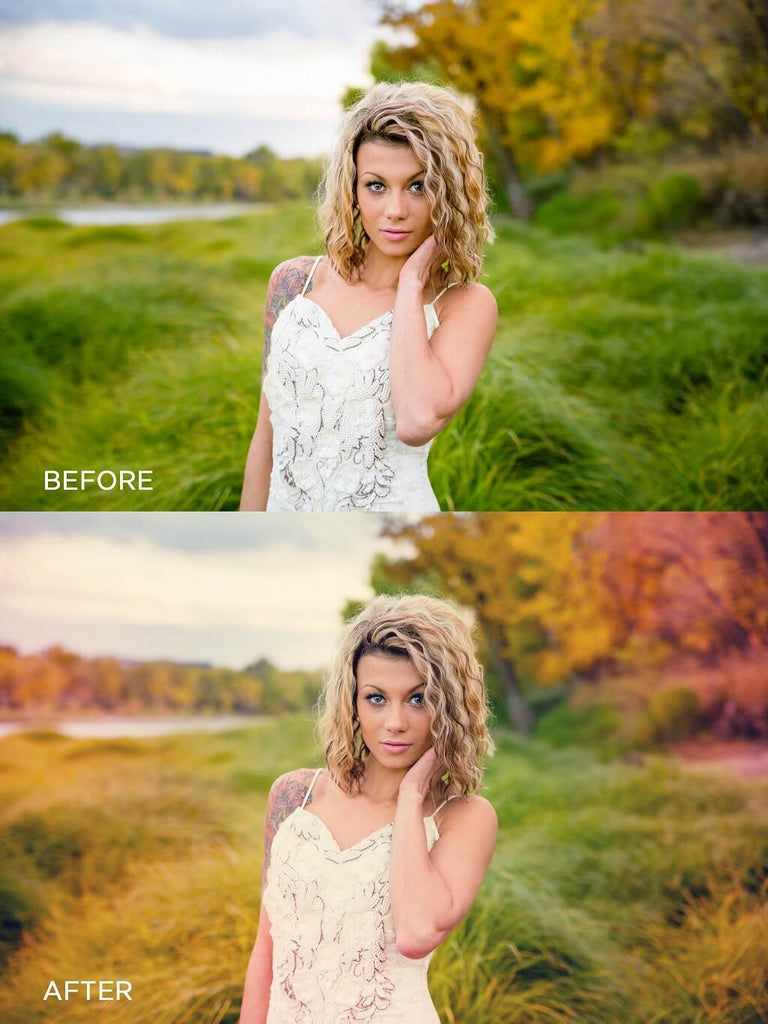 Creating a Light Leak in Photoshop Before and After Photo