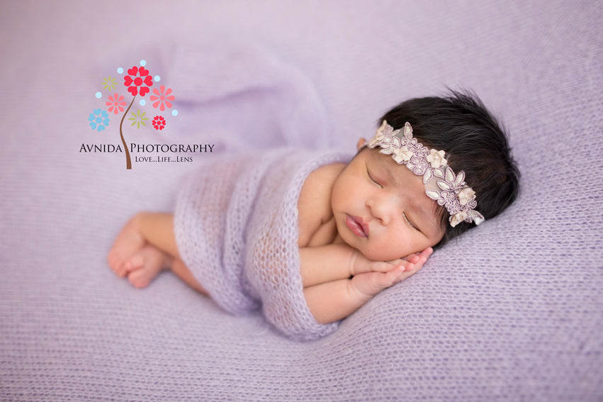 Newborn photography side pose