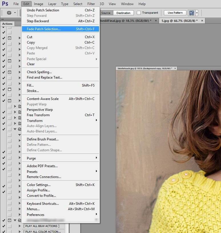 retouching tools in photoshop