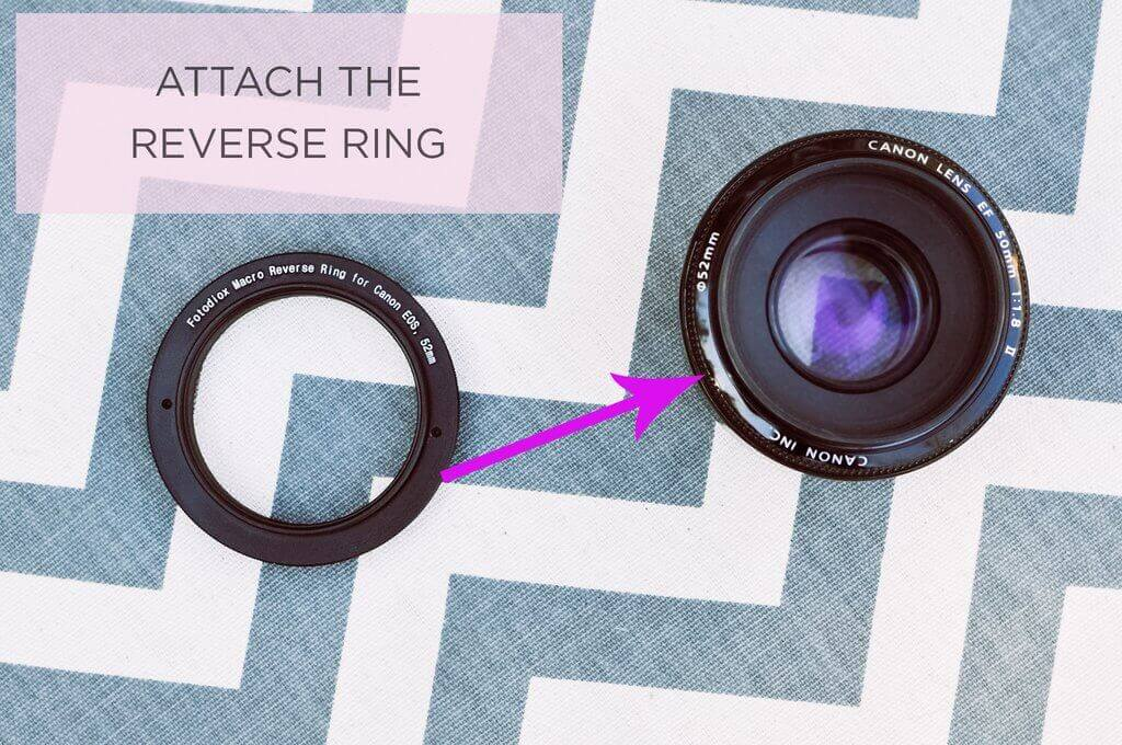 Reverse Ring for Canon 50mm
