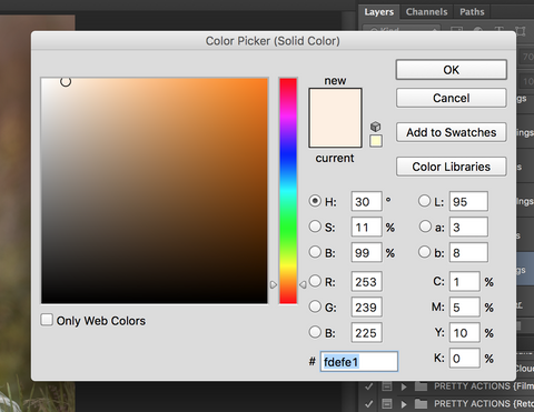 Photoshop Color Picker used to Change Colors in Photoshop