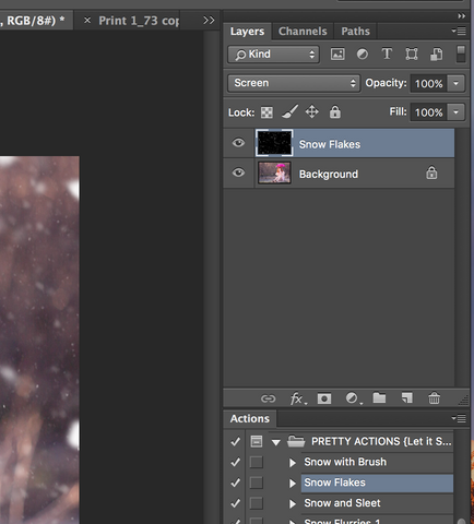 Photoshop Snow Actions