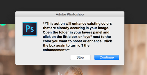 Photoshop Actions Automated Pop Up