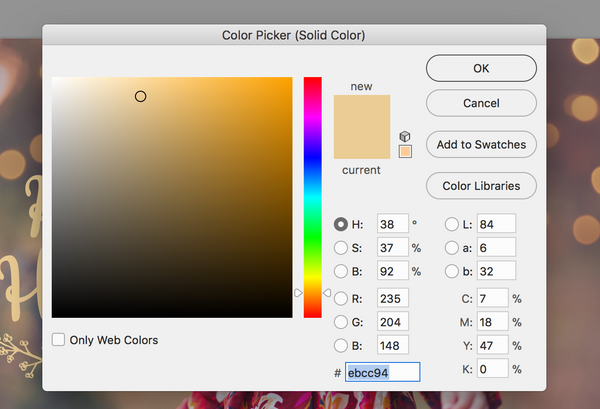 Using The Color Picker Box To Change Overlay
