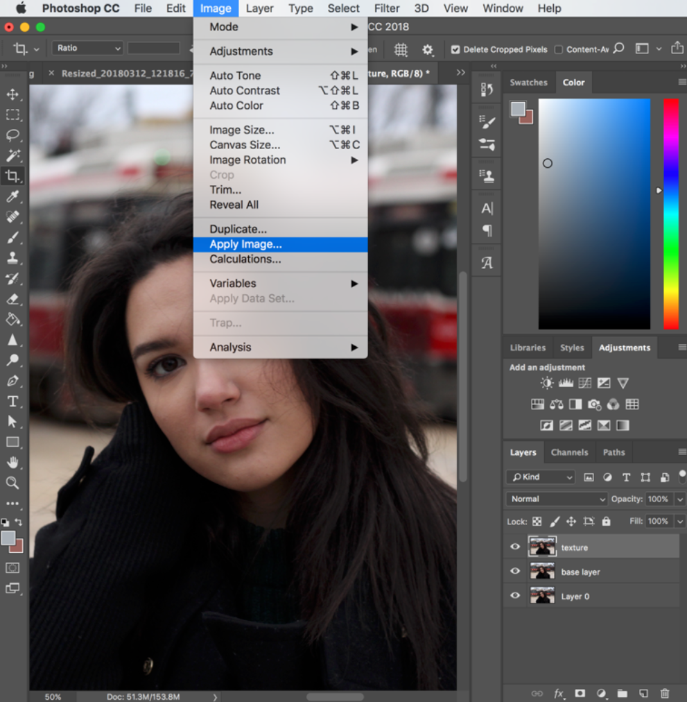 Photo Showing How to Use Frequency Separation in Photoshop