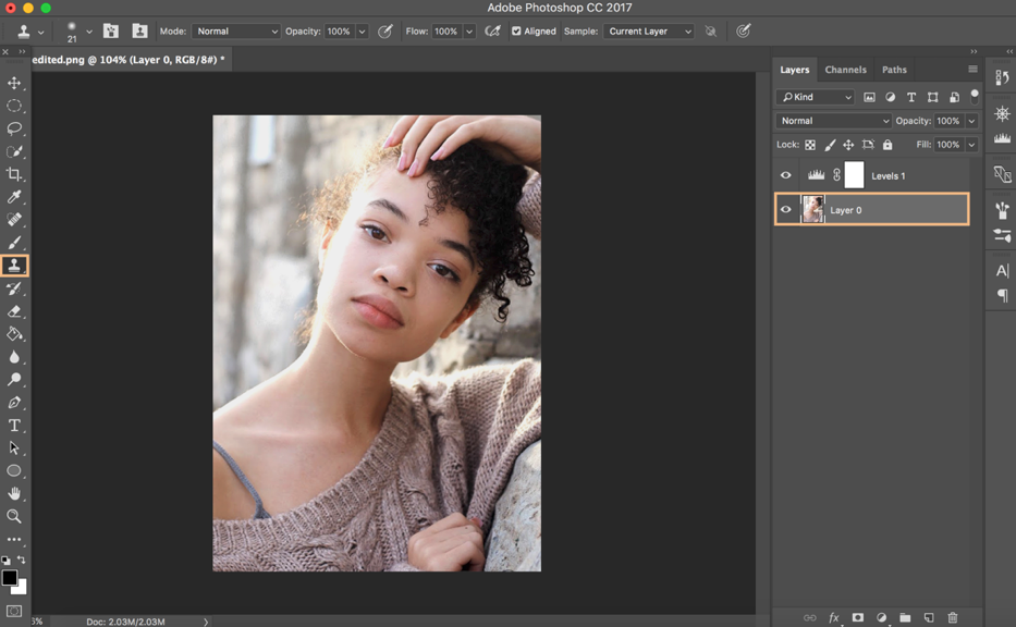 Clean Up Image in Photoshop