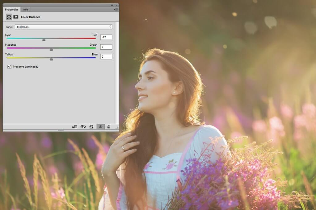 how to adjust white balance in Photoshop