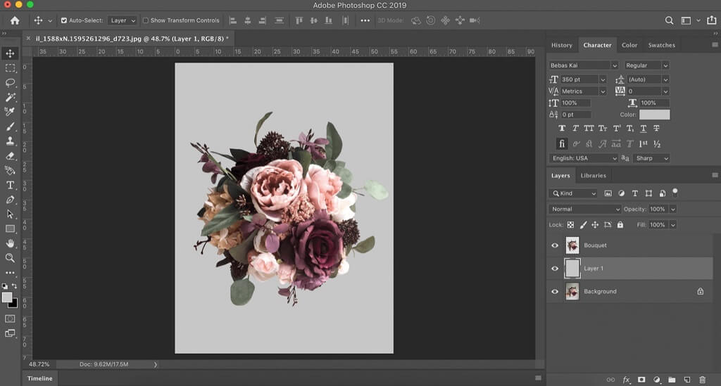 how to intertwine letters in photoshop