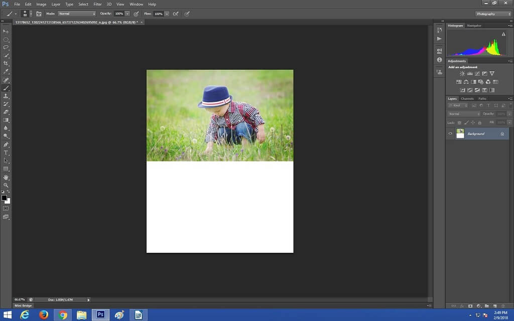 How to make reflection in Photoshop