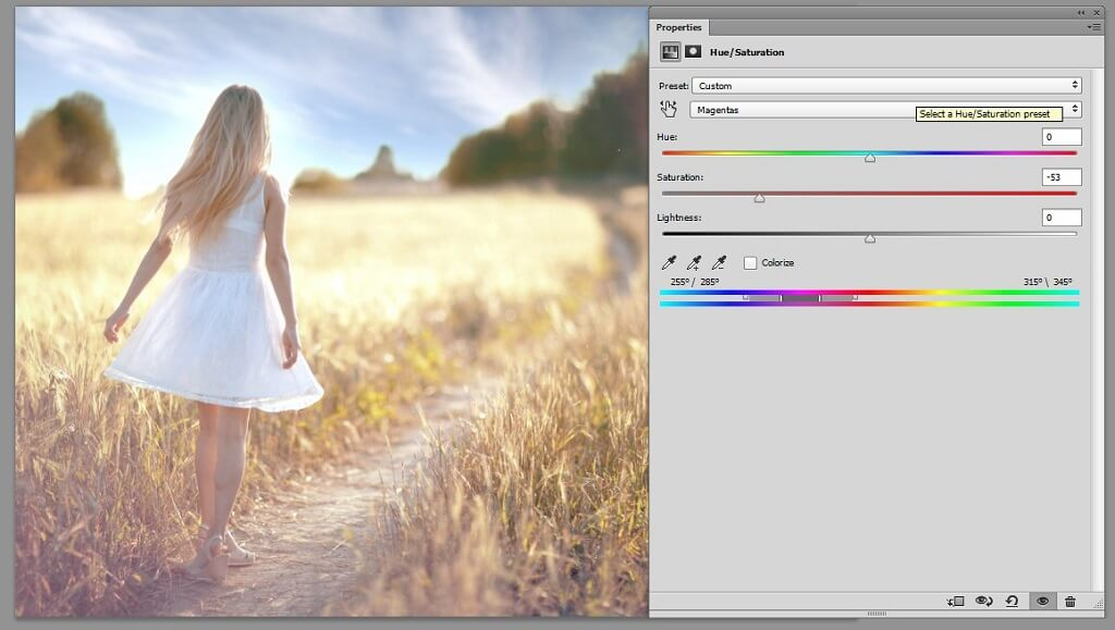 photoshop hue saturation tutorial