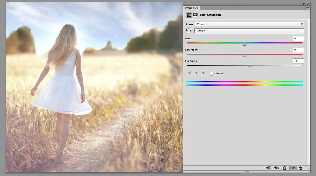 how to change saturation in photoshop