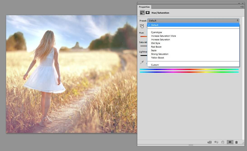 how to edit saturation in photoshop