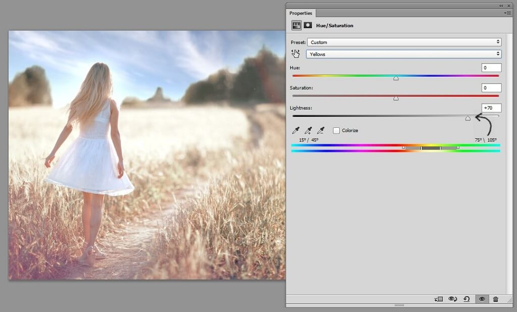 how to edit hue and saturation in photoshop