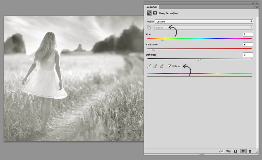 how to open hue saturation in photoshop