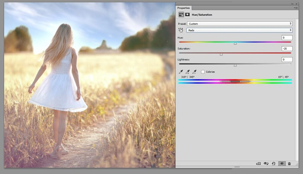 how to saturate in photoshop