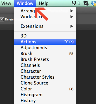 Installing actions in Photoshop