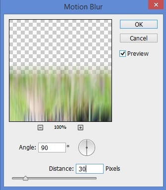 Adding blur to reflection in Photoshop