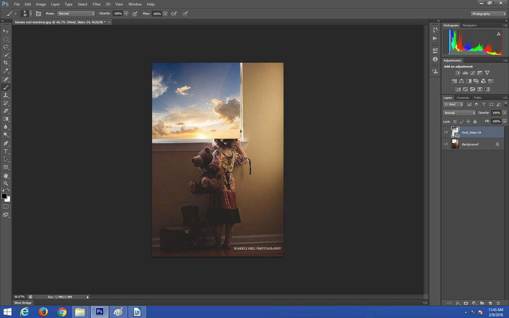 Creating a layer mask in Photoshop