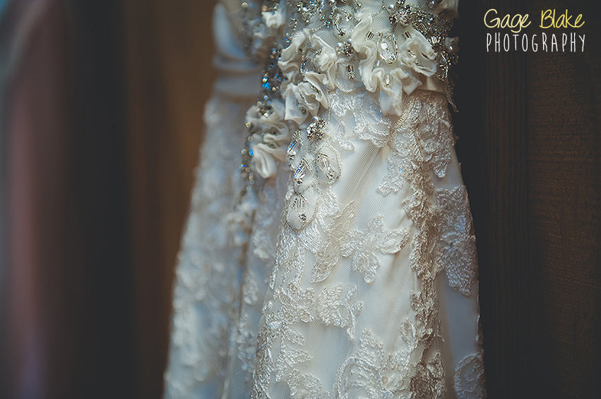 Wedding photography - closeups on wedding dress detail