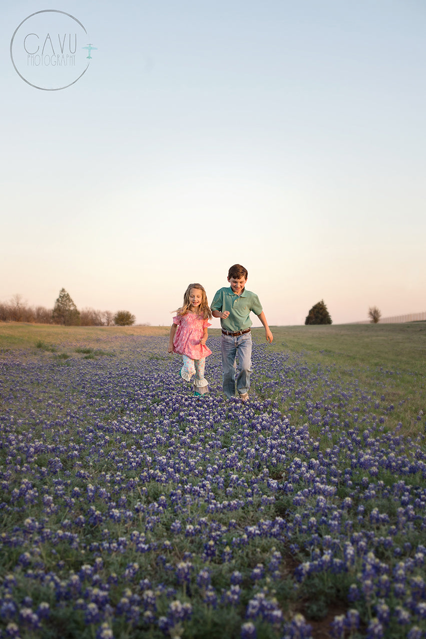 Child Portraits Taken in Texas Bluebonnets