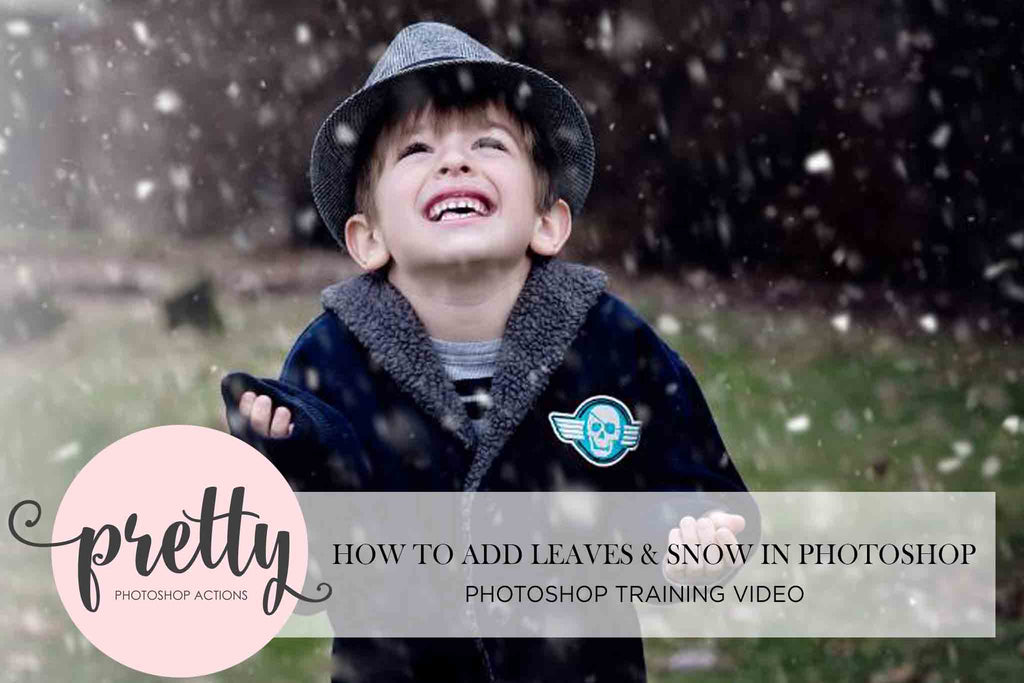 How to Add Leaves & Snow in Photoshop