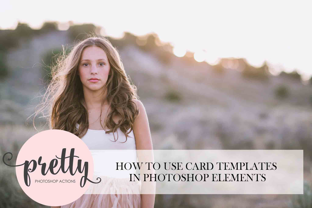 How to Use Card Templates in Photoshop Elements