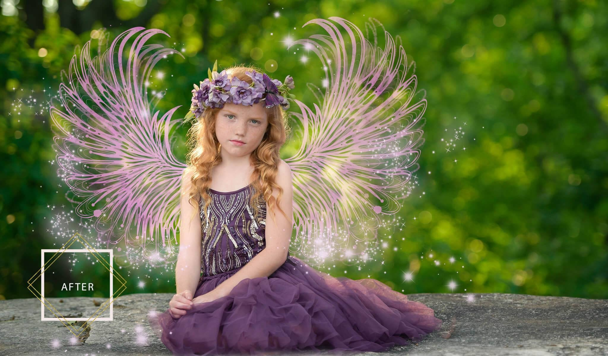 photoshop fairy wing overlays fairy dust brushes actions u0026 more