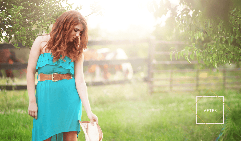 Sun Flare Light Overlays + BONUS Hazes - Pretty Photoshop Actions