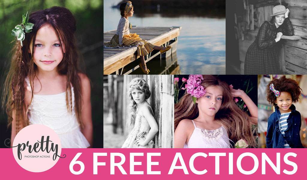 FREE Photoshop Actions: Pretty Actions Limited Edition Mini-Set