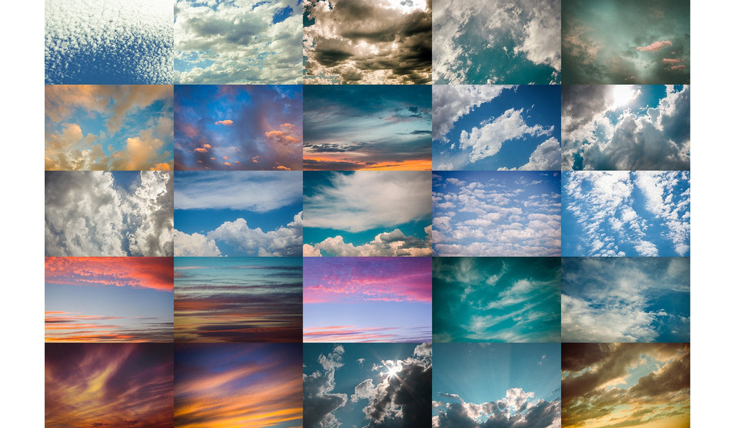 Montana Skies Cloud Overlays Bundle V1 and V2 - Pretty Photoshop Actions