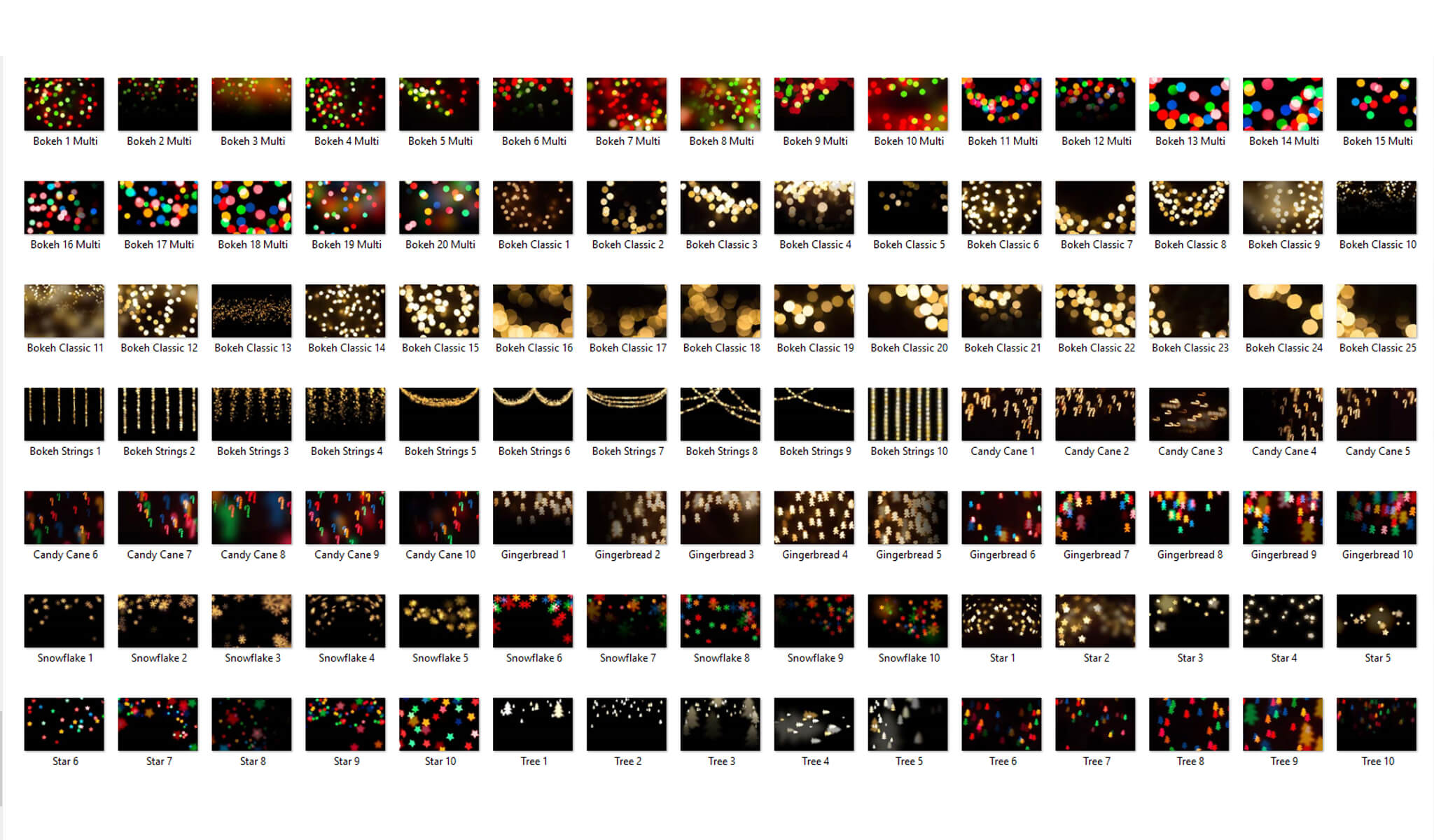 holiday bokeh overlays actions collection pretty photoshop actions